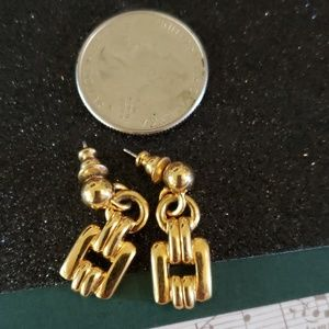 1980s gold tone pierced earrings